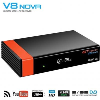 GT Media V8 Nova DVB-S2 Decodificador Satélite Receptor TV Satélite Digital con Wi-Fi Incorporado  SCART  1080P Full HD