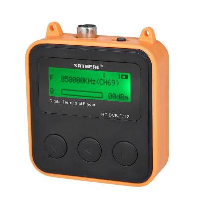 Docooler SATHERO SH-110HD Localizador de satélites Terrestrial Signal Finder Meter DVB-T DVB-T2 HD Digital TV Signal Finder Receiver LCD Dispaly