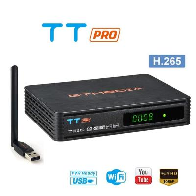 GT MEDIA TT Pro Decodificador TDT Terrestre Receptor TV Digital Cable DVB-T T2 DVB-C con Antena WiFi USB